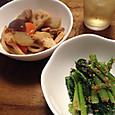 筑前煮と小松菜