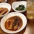 鯖の味噌煮と筍