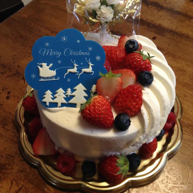 クリスマスケーキ(いつものお店で)