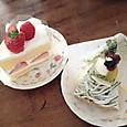 日曜の午後のケーキ
