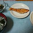 11月2日 シャケで一人ご飯