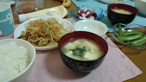 5月10日 肉野菜炒め