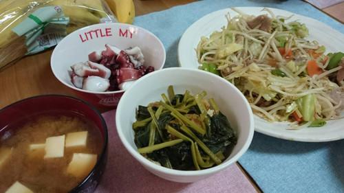 10月14日 野菜炒め