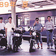 1989夏、新大阪駅のホーム