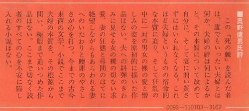 島尾敏雄 死の棘 帯拡大(左)
