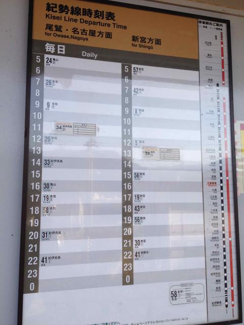 大曽根浦・時刻表
