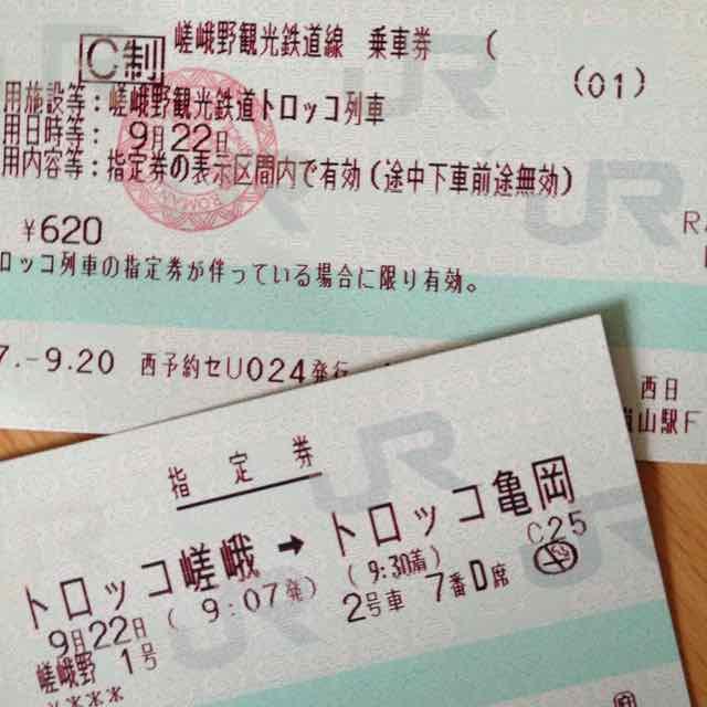 トロッコ列車(切符)