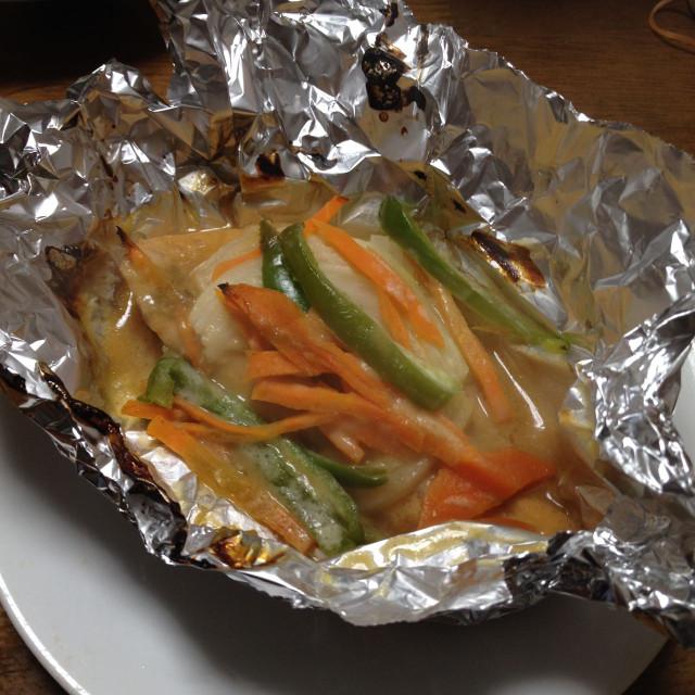 シャケの味噌マヨネーズ焼き
