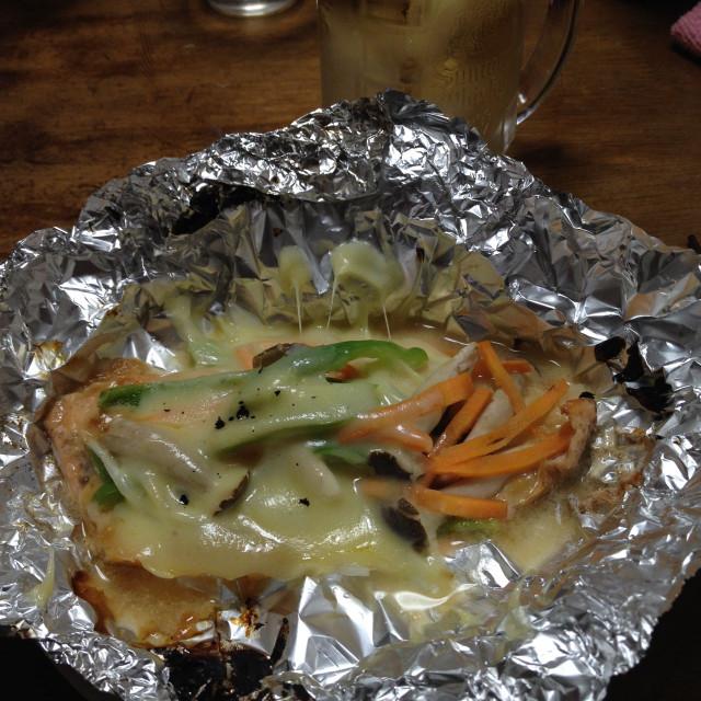 シャケの味噌マヨネーズホイル焼き