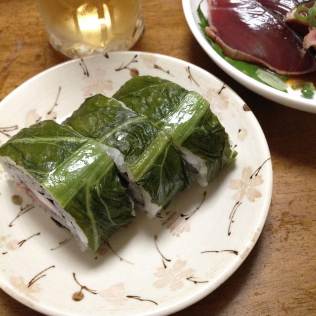 サバの高菜巻き