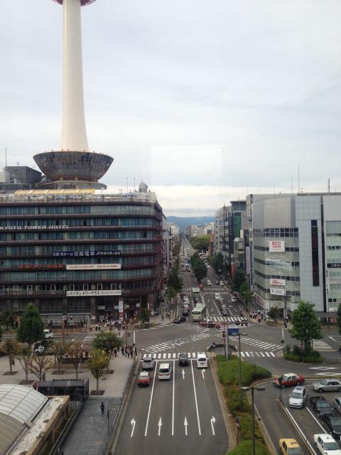 京都駅から(空中回廊)