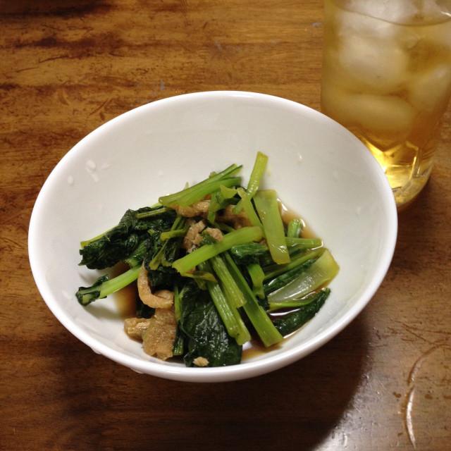 いつもの小松菜