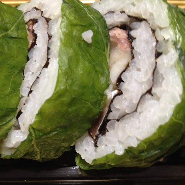 鯖の高菜巻き