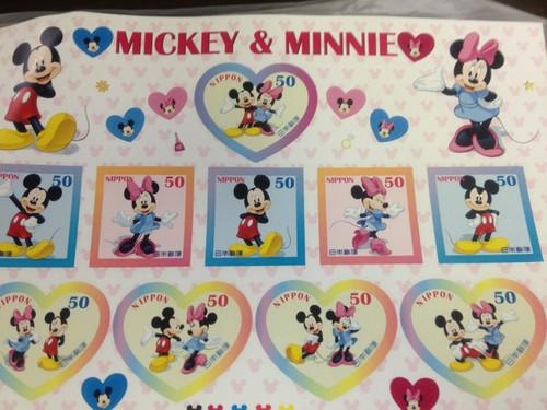 ミッキーの切手シート
