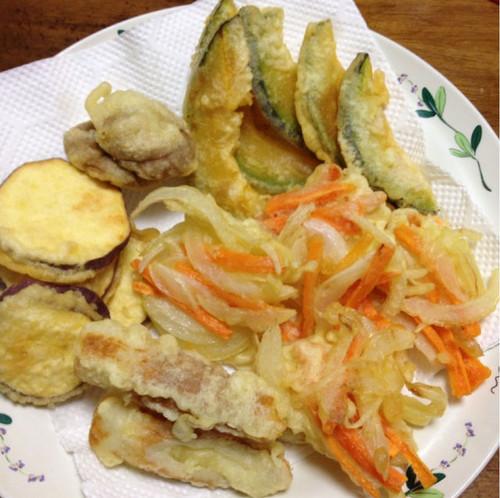 野菜を天ぷらで