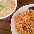 キムチ焼飯とチキンラーメン(カップ)