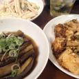 麻婆豆腐となすびの煮浸し