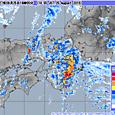 8月25日の大雨警報の雨雲