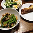 小松菜お浸し+鯛