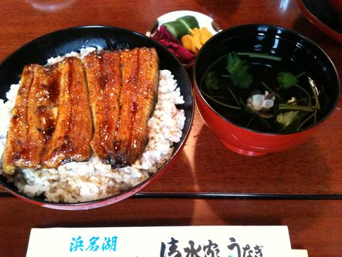 浜松市に行きました。鰻を食べました