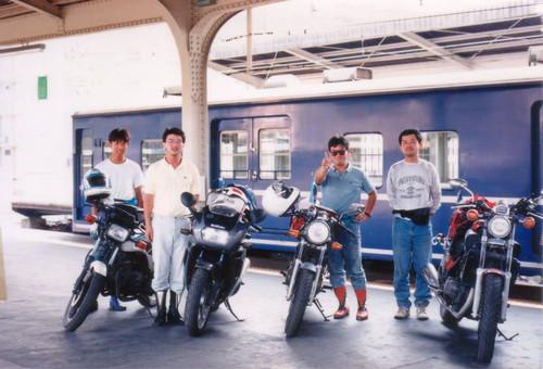 1989年夏新大阪駅のホームにて